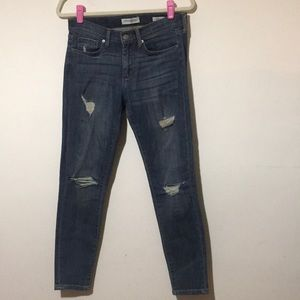 Banana Republic Distressed Skinny Ankle Jeans 27
